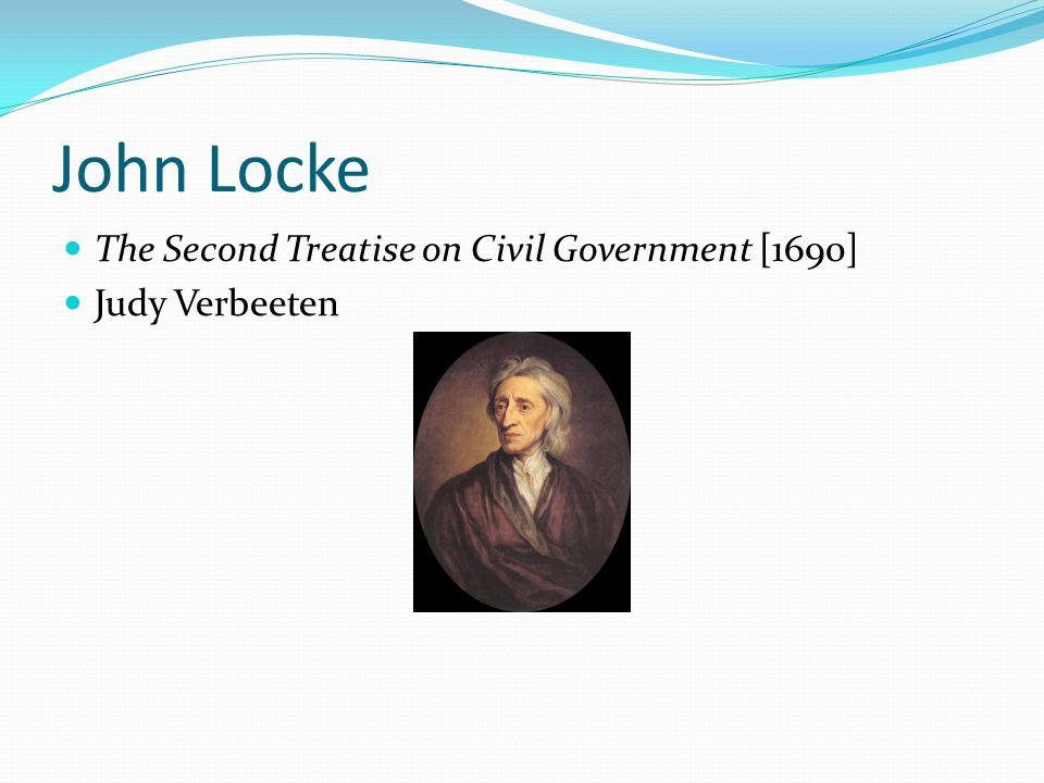 John Locke The Second Treatise on Civil Government [1690]
